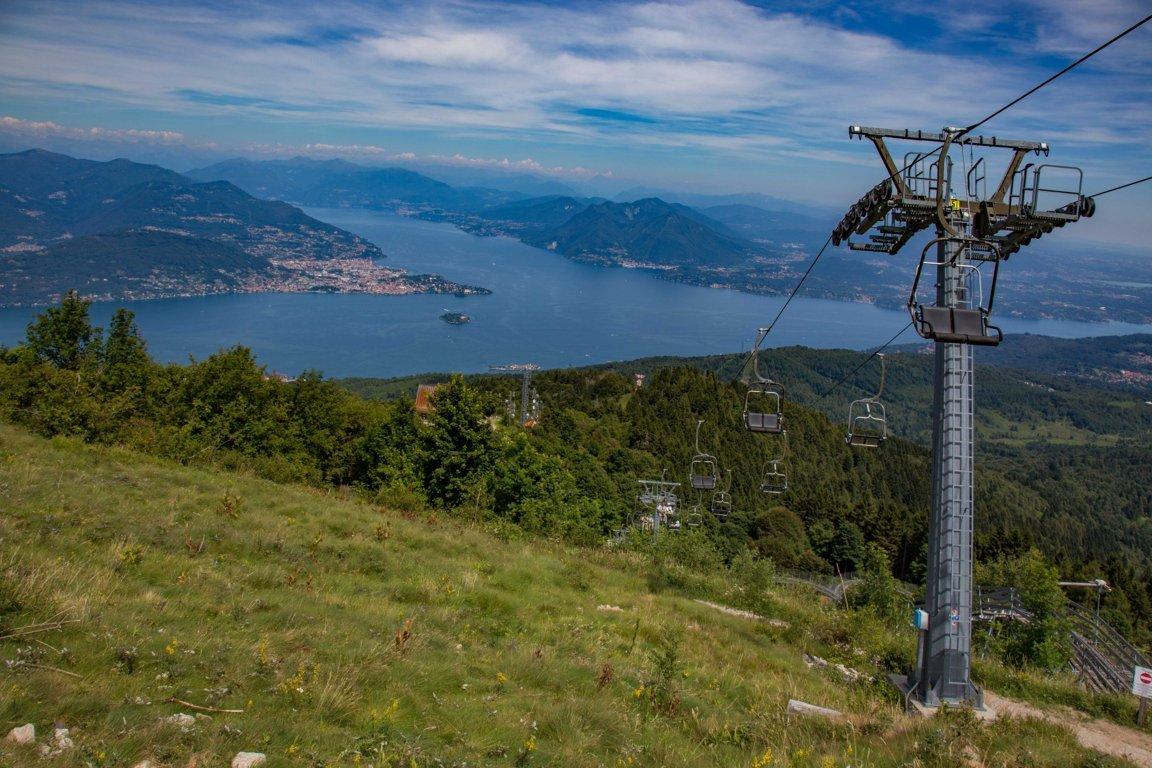 Blick vom Mottarone auf den Lago Maggiore